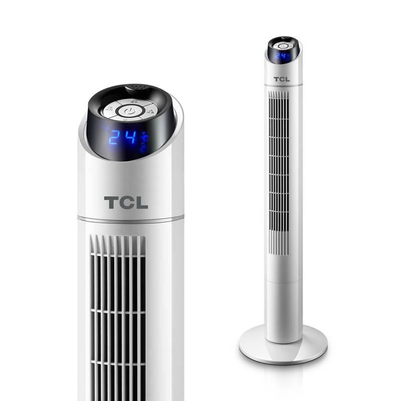 TCL电风扇家用塔扇遥控定时落地扇摇头静音大厦台式立式无叶风扇