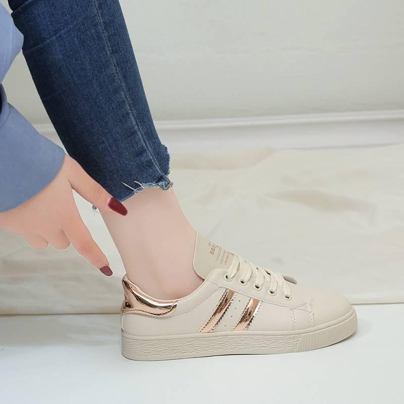 屏之风2019新款板鞋女时尚贝壳头个性小白鞋舒适学生百搭休闲鞋潮