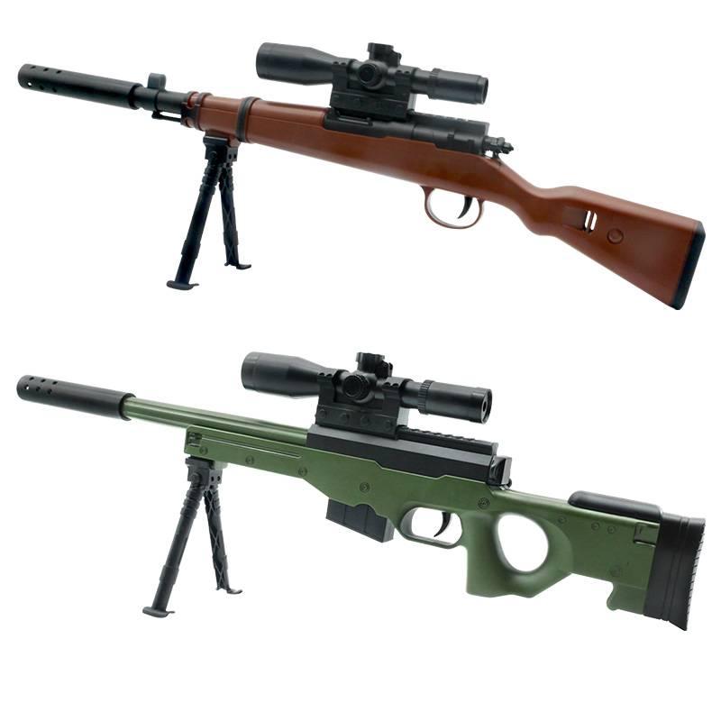 AWM儿童玩具枪绝地98k水弹抢 可发射手动m24狙击枪吃小雞男孩m416