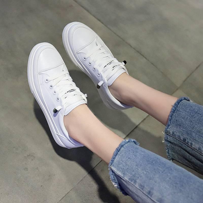兰茵朵透气小白鞋女2020春夏新款韩版学生板鞋百搭松紧平底鞋女鞋