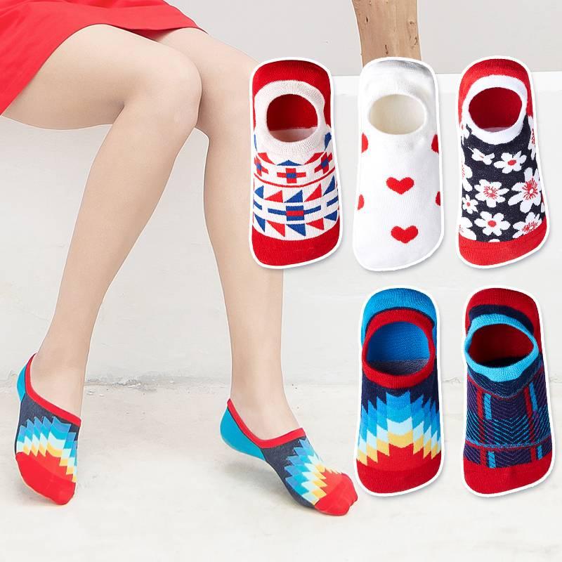 袜子女短袜浅口ins潮船袜女硅胶防滑夏季薄款隐形袜男女个性船袜