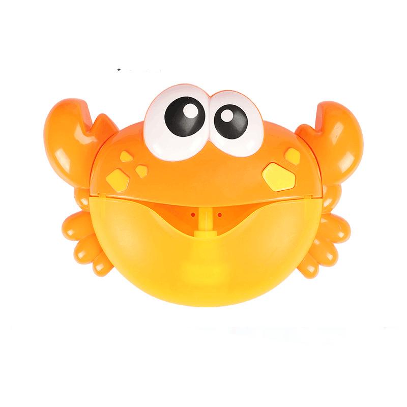 儿童戏水螃蟹泡泡机抖音同款全自动吹泡泡宝宝洗澡吐泡泡玩具女孩
