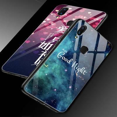 vivoy85手机壳玻璃女vivoz1手机套软硅胶y85a保护套防摔外壳潮款