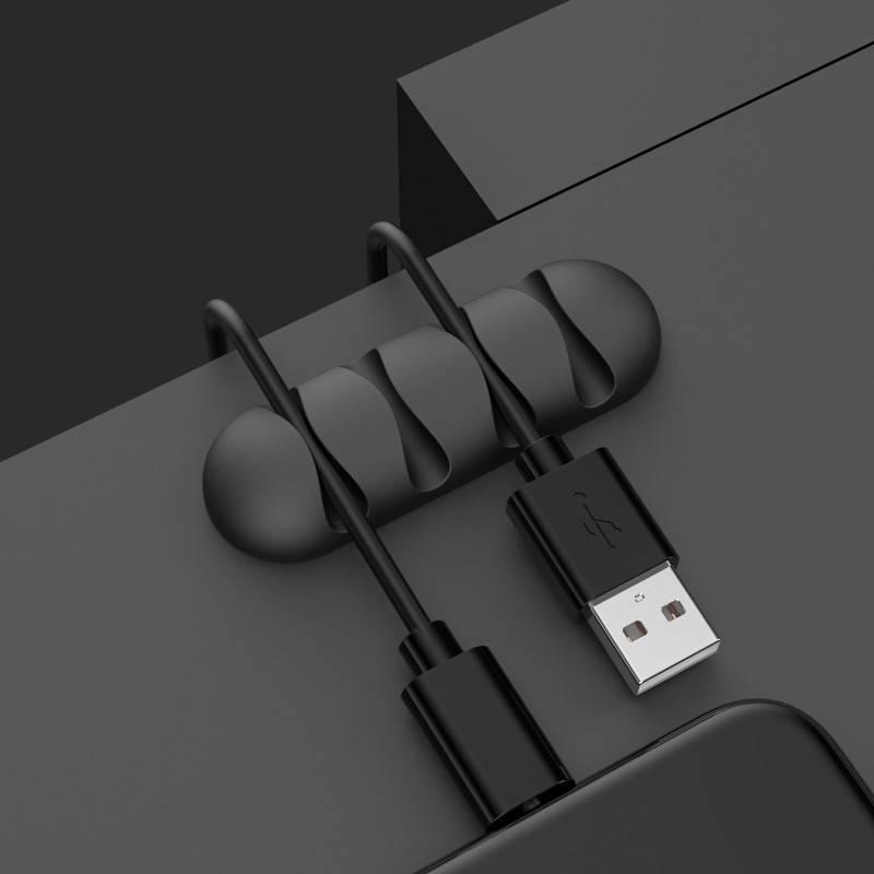 数据线固定器桌面理线器收纳扣手机线绕线器充电线卡扣夹桌子线夹耳机防缠绕整理小神器桌边固定收线扣集线器