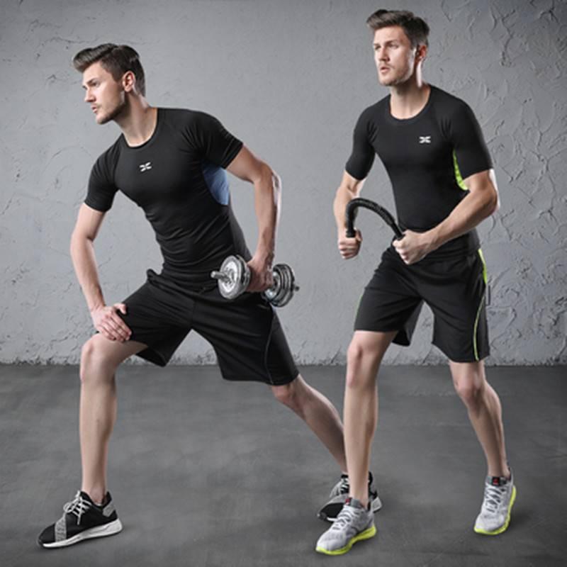 健身房运动套装男冬天晨跑跑步服篮球衣服紧身训练装备秋冬季夜跑