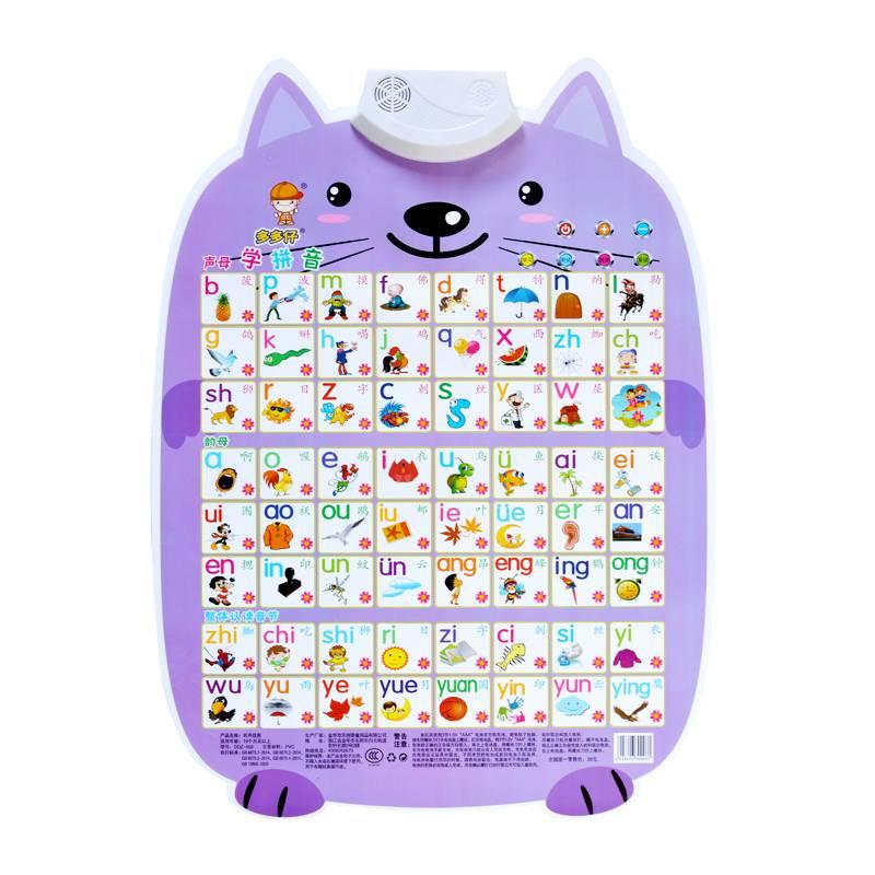有声挂图拼音儿童认知启蒙早教墙贴发声语音宝宝看图识字卡玩具