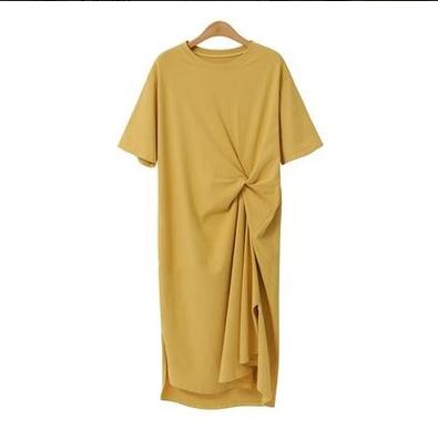 【换季促销】宽松休闲流行裙子很仙的小众连衣裙大码长款t恤裙夏