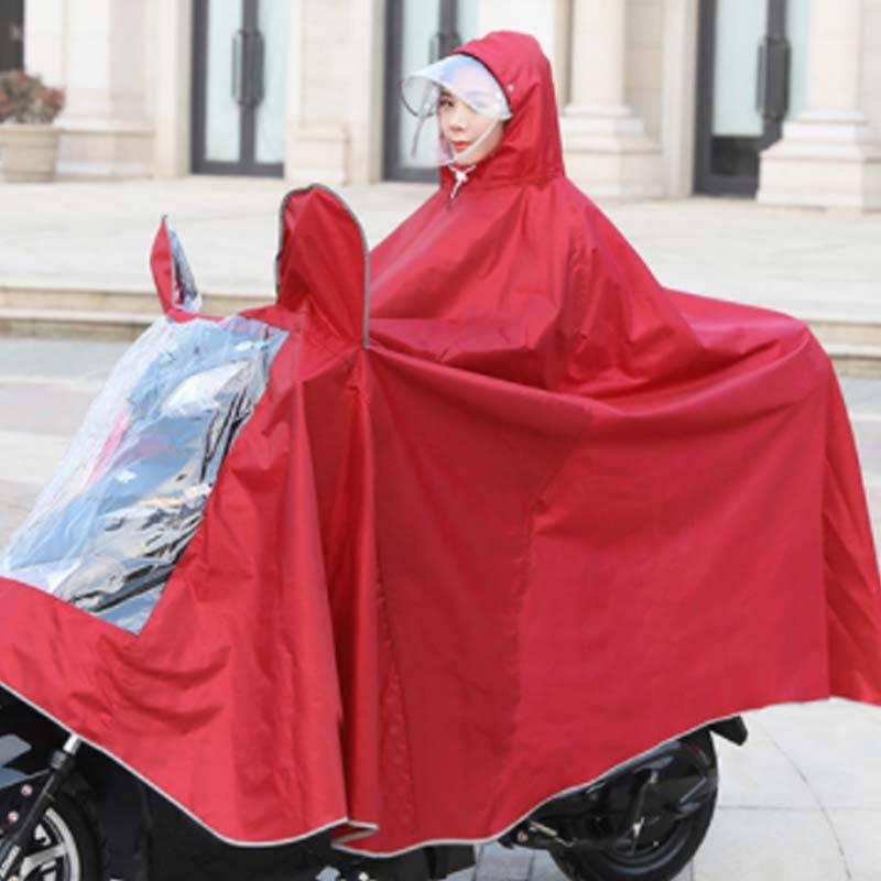 雨衣电瓶车电动车摩托车单人女双人成人男自行车骑行加大防暴雨披