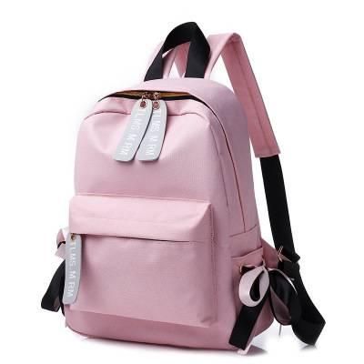 双肩包女韩版时尚百搭个性休闲包包2019新款潮帆布书包背包