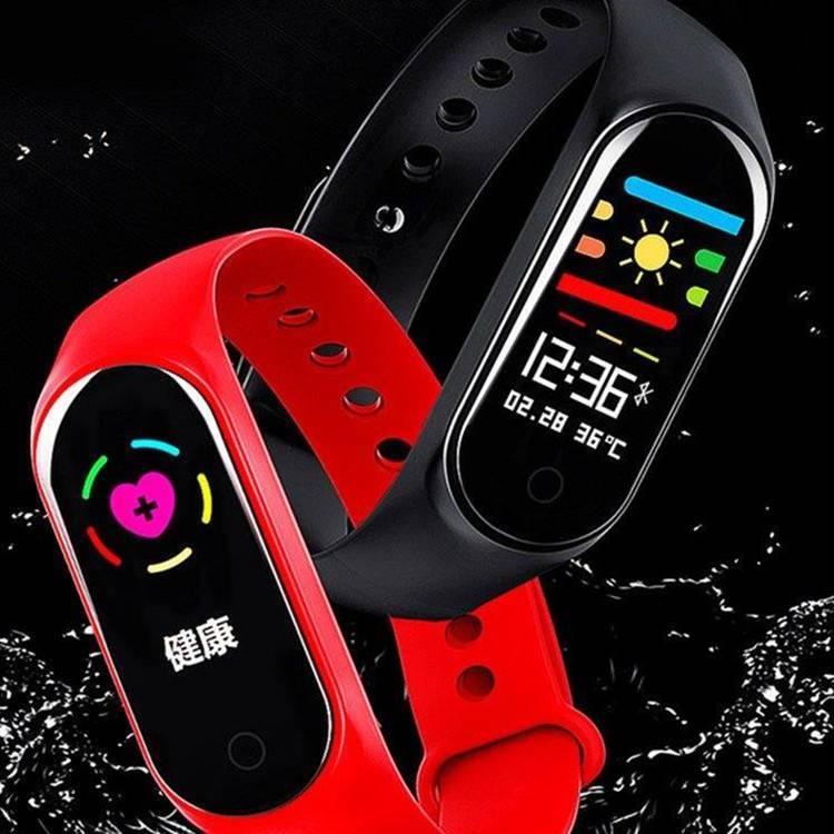 M3智能运动手环彩屏男女学生测心率血压血氧多功能防水手表通用