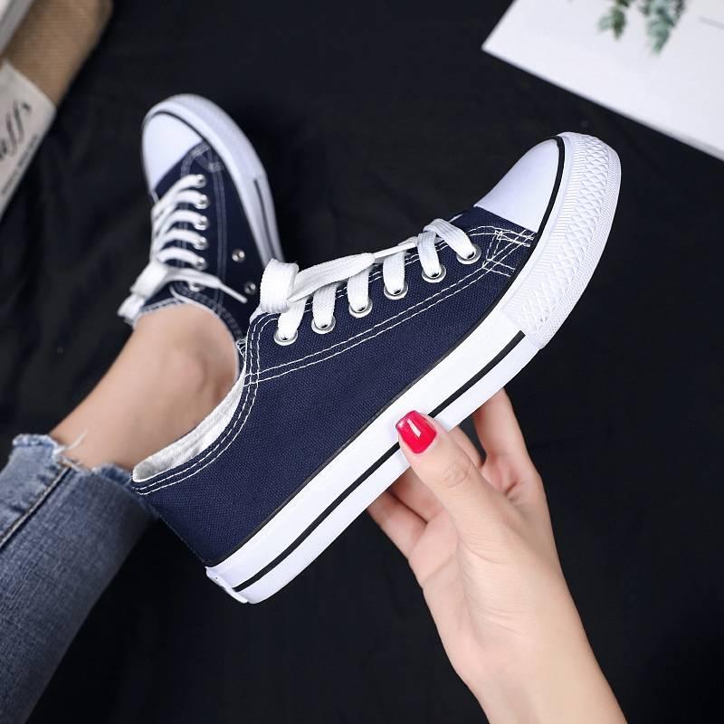 春新款经典情侣帆布鞋男基本款硫化鞋韩版透气单鞋潮鞋子男板鞋=A