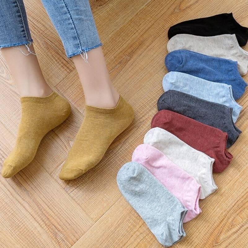 南极人女袜子100%纯棉短袜浅口薄款可爱夏季透气全棉薄袜子女士