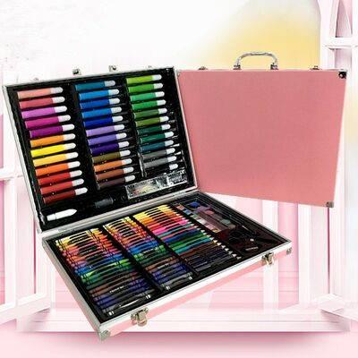 儿童画笔套装美术用品画画工具蜡笔水彩笔套装小学生绘画文具女孩