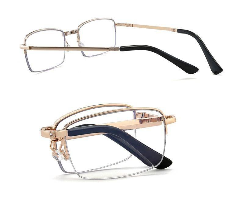 西嵐折疊老花鏡男遠近兩用高清防藍光智能自動變焦便捷式老花眼鏡