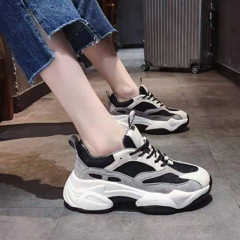 PFGK透气小白鞋女网面休闲鞋2019夏季新款韩版百搭跑步板鞋学生鞋