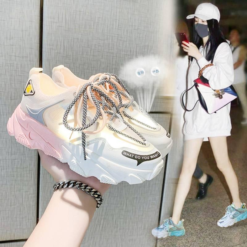 透气小白鞋女网面休闲鞋2020夏季新款韩版百搭跑步板鞋学生鞋