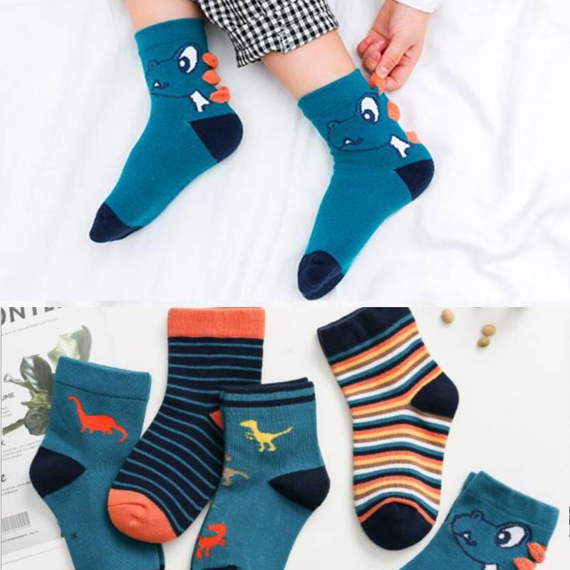 【5双装】女童男童宝宝儿童袜子夏季春夏薄款棉船袜夏天夏袜透