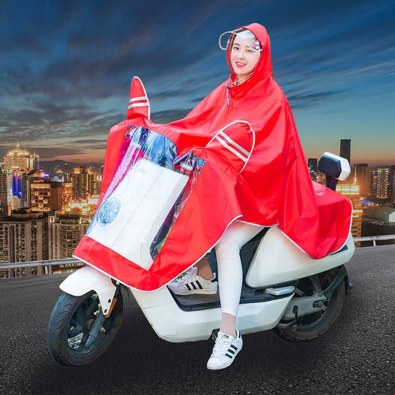 摩托车雨衣长款全身电动自行车成人单双人男女士防水加厚加大雨披