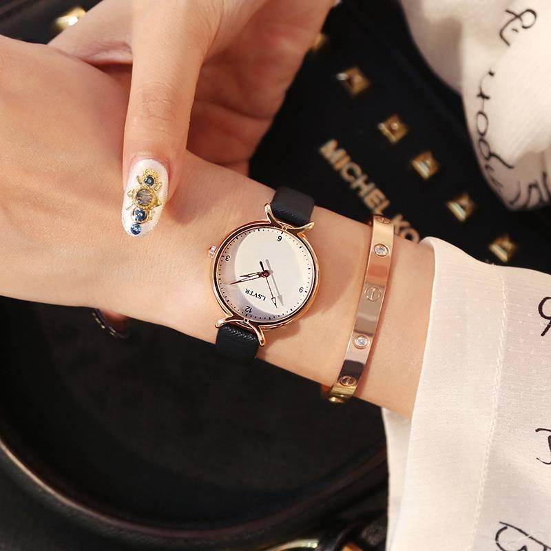 手表女士学生韩版简约时尚潮流防水休闲大气石英女表抖音网红同款