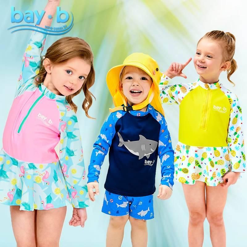 男女童泳衣泳帽连衣裙分体泳衣