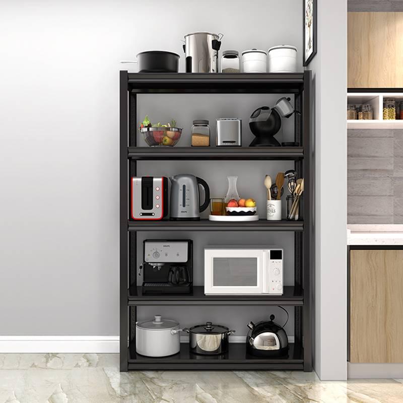 铁艺置物架落地卧室客厅置物架多层收纳架微波炉烤箱厨房置物架子