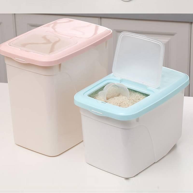 LH储米桶米箱20斤塑料防虫面粉桶厨房米缸5kg大米罐家用10kg杂粮