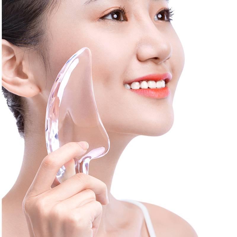 水晶刮痧板透明瘦脸部女面部经络非排毒牛角刮脸美容神器全身通用