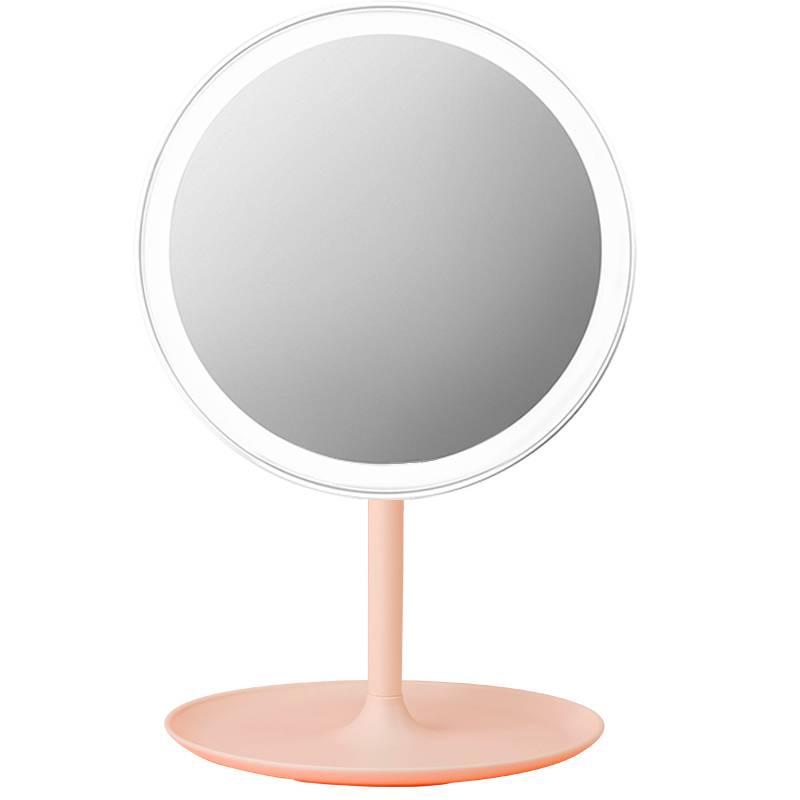 米选led化妆镜带灯补光宿舍台式梳妆镜女折叠网红桌面便携小镜子