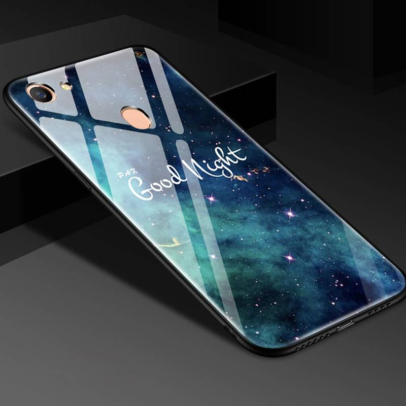 oppoa73手机壳玻璃保护OPPO A73m个性潮款a73t硅胶磨砂全包软边a73m女款防摔时尚创意卡通男潮oppo保