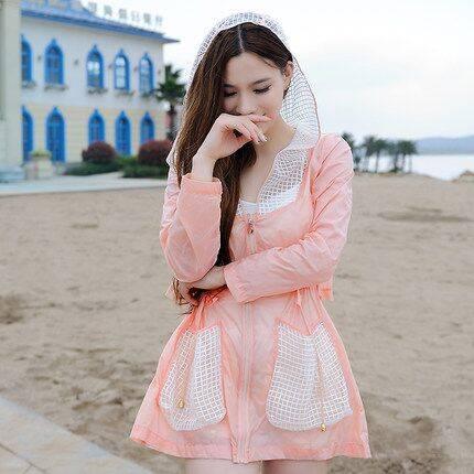 2019防晒衣女夏季中长款薄款韩版透气宽松大码外套沙滩服
