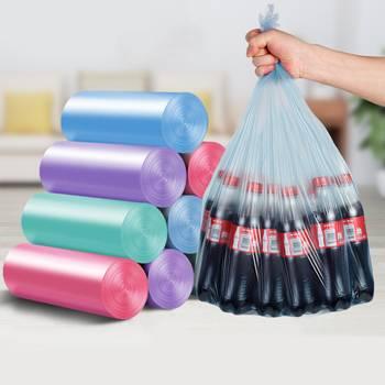 垃圾袋家用手提式黑色加厚背心式拉宿舍用学生实惠装塑料大号小号