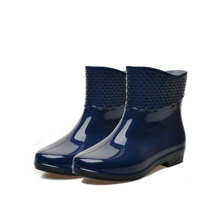 雨鞋女短筒低帮水鞋洗车水靴防滑胶鞋防水厨房工作鞋户外成人雨靴