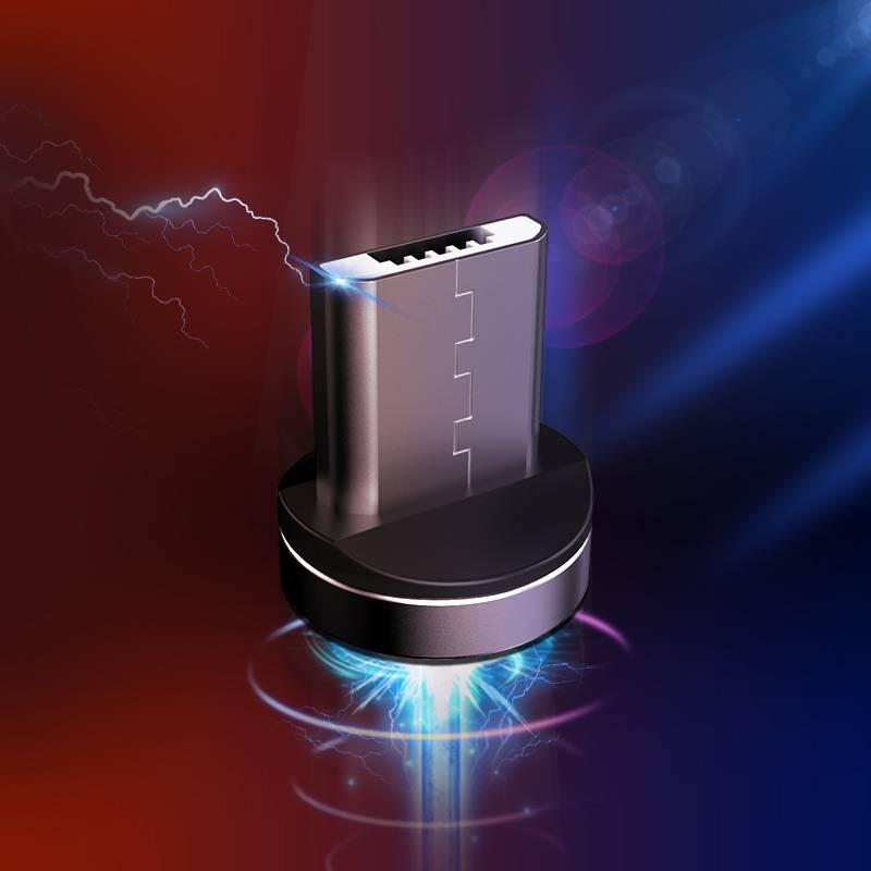 磁吸数据线磁铁充电线器磁性吸头强磁力安卓苹果Type-c三合一手机快充6车载7乐视华为oppo通用vivo闪充一拖三
