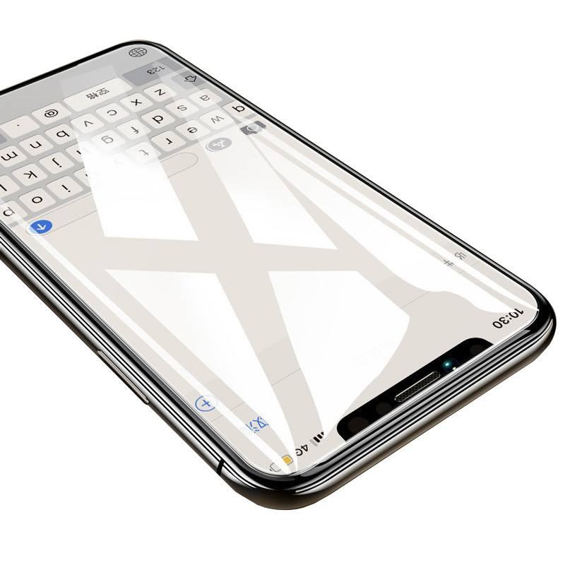 iPhoneX钢化膜苹果7/8手机膜6plus全覆盖xsmax抗蓝光5/5s/5c/se防指纹xr原装6p/6sp玻璃膜