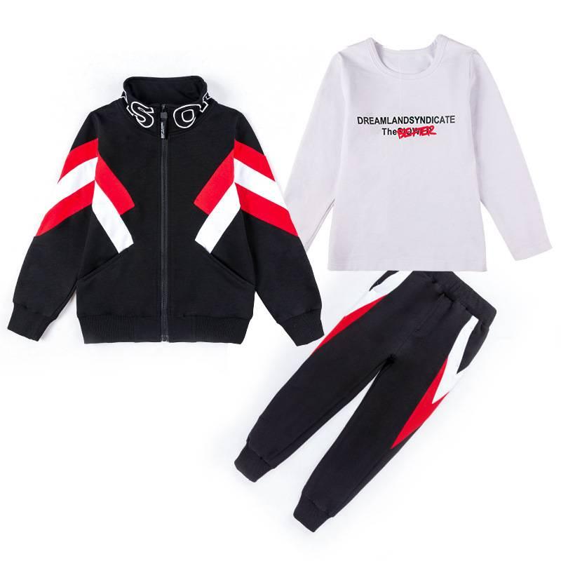 童装男童秋装套装2019年新款中大童洋气儿童运动男孩秋款三件套LJ