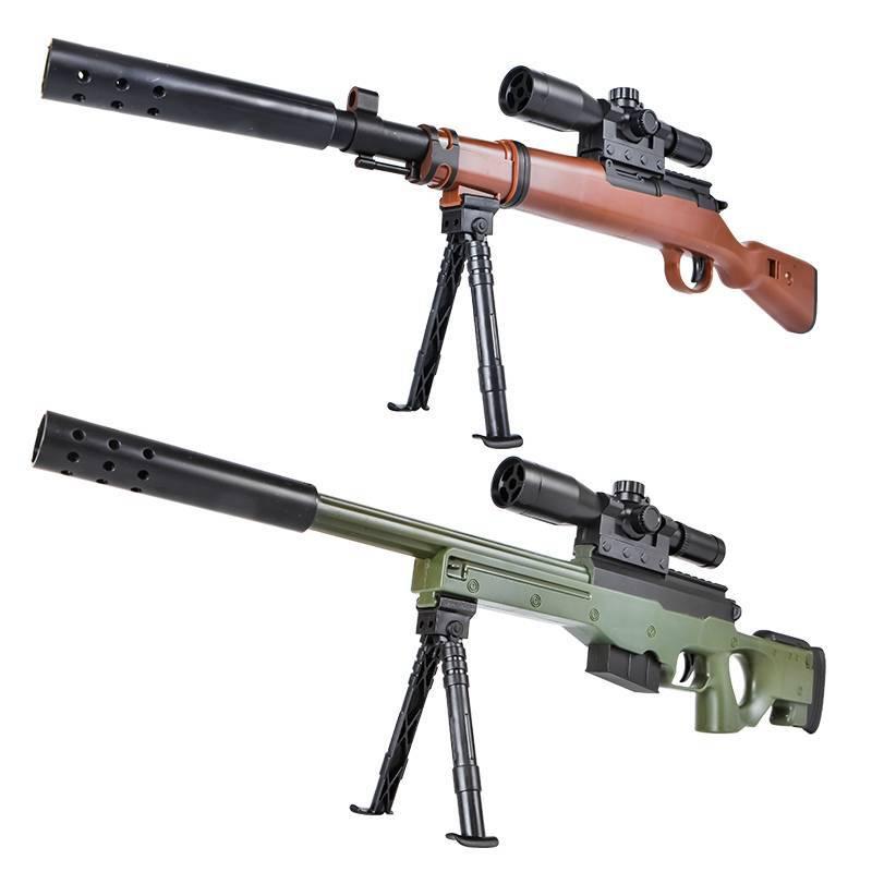 宝迪莱儿童玩具m416绝地吃鸡求生awm15倍镜98k狙击抢男孩水弹枪