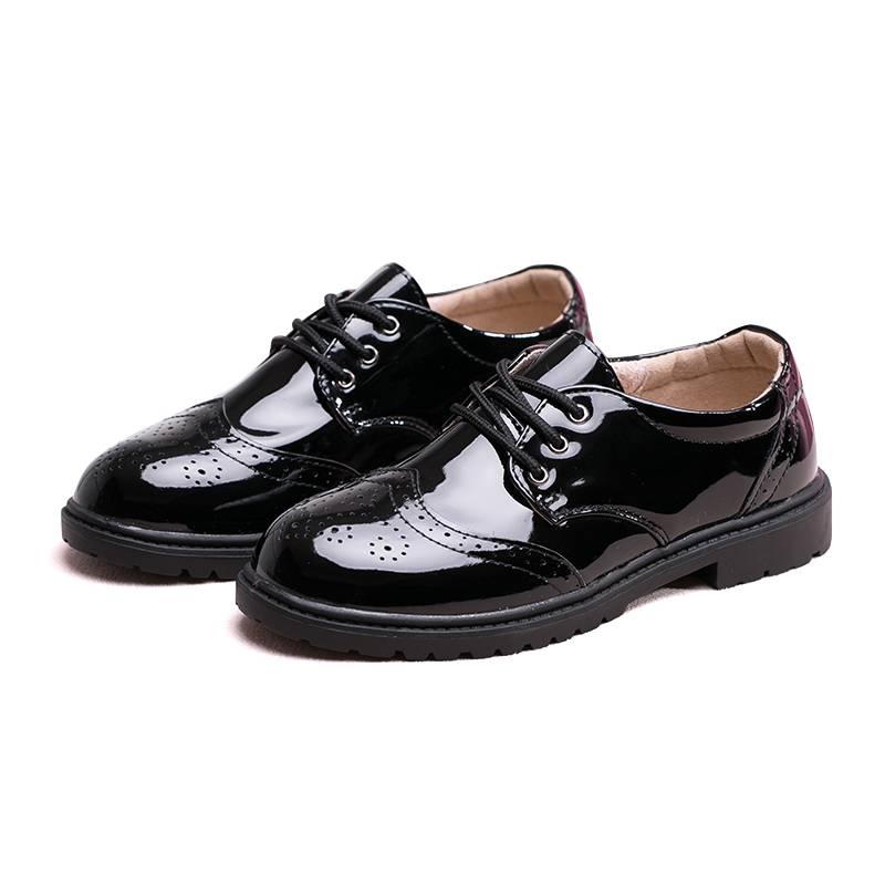 男童皮鞋黑色2019秋季新款软底透气防滑男孩表演出单鞋儿童小皮鞋