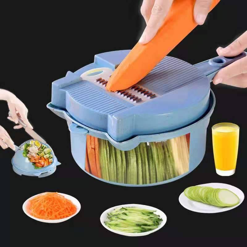 多功能切菜器刨擦土豆丝切片家用手动全能厨房用品神器沙拉沥水套