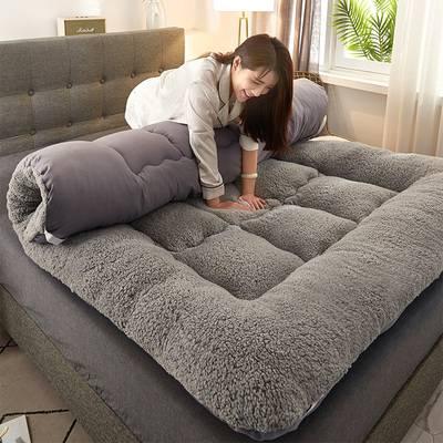 海绵榻榻米床垫褥子加厚羊羔珊瑚绒