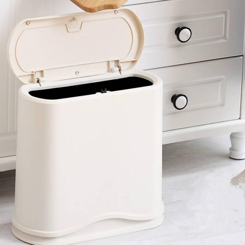垃圾分类垃圾桶家用带盖客厅分类按压式干湿分离卫生间厕所上海