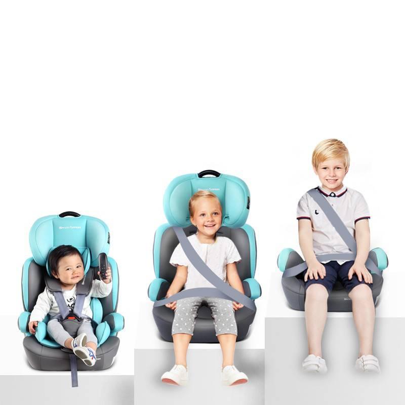 可折叠儿童安全座椅0-4-9-12岁宝宝汽车用车载坐椅ISOFIX简易便携