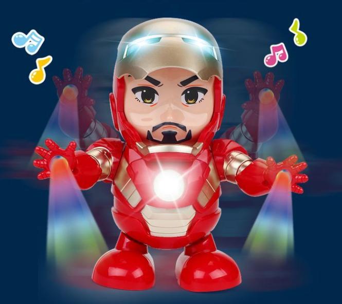 网红同款玩具钢铁侠跳舞机器人电动摇摆儿童男女孩音乐复联4