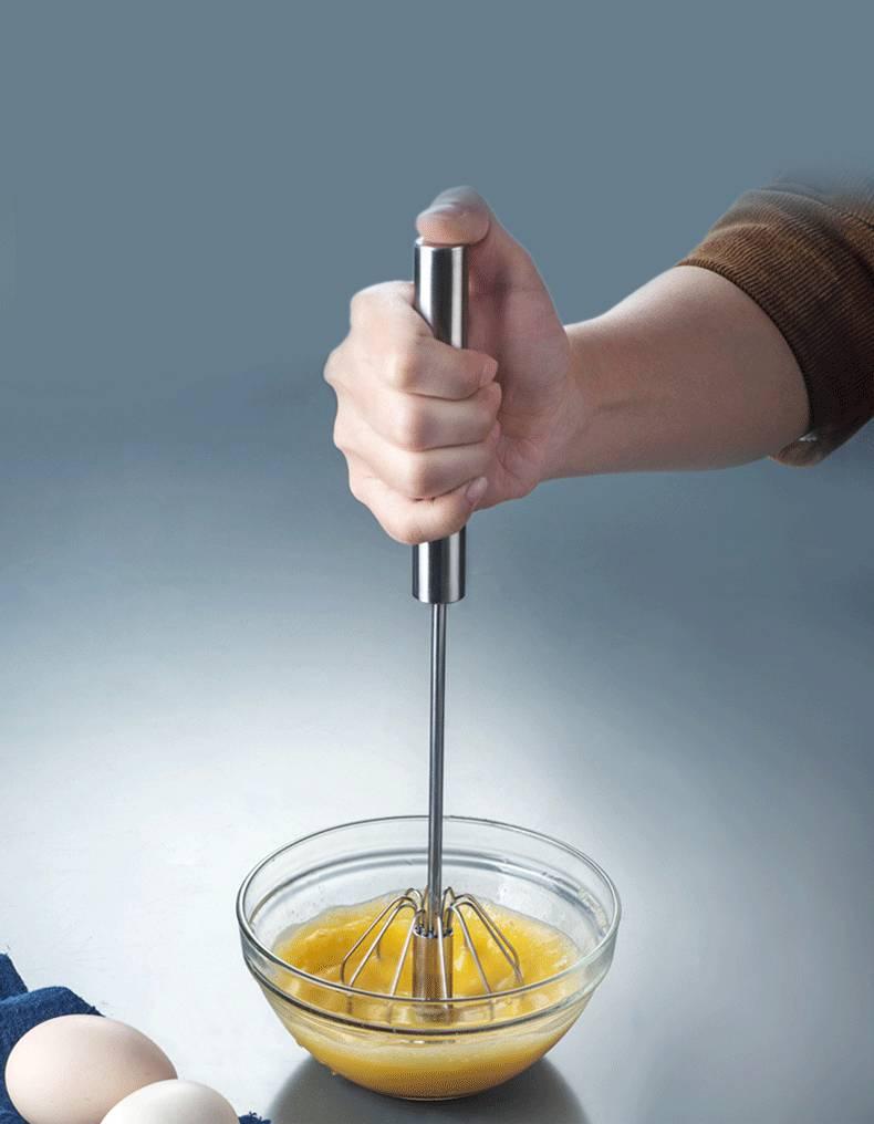 打蛋器半自动家用小型不锈钢 奶油打发器手动按压式搅拌棒神器