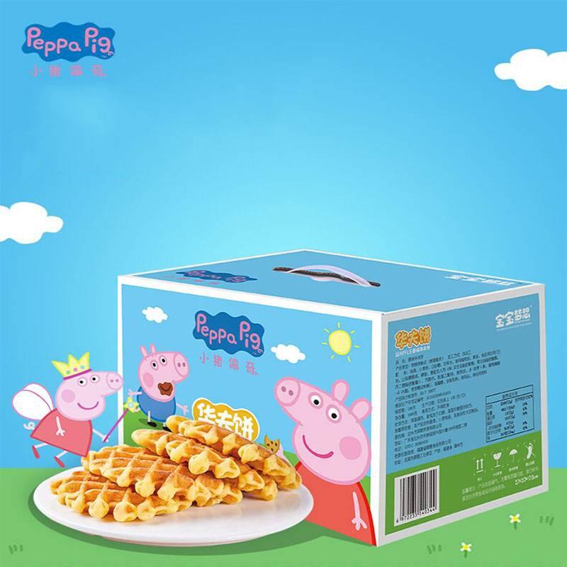 小猪佩奇华夫饼1kg礼盒早餐蛋糕饼干面包网红休闲零食点心代餐