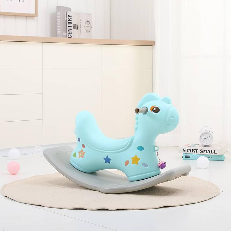 婴儿摇摇马小木马儿童摇马一周岁宝宝生日礼物木马玩具车大人可坐