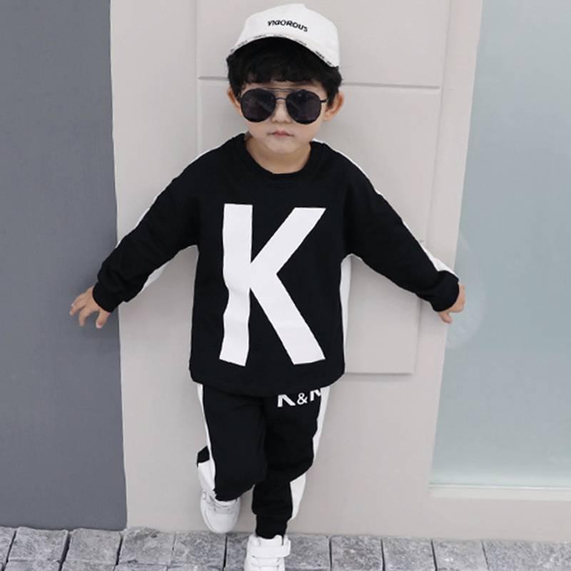 李现同款童装kk战队服儿童女童卫衣韩版亲爱的热爱的男童秋装套装