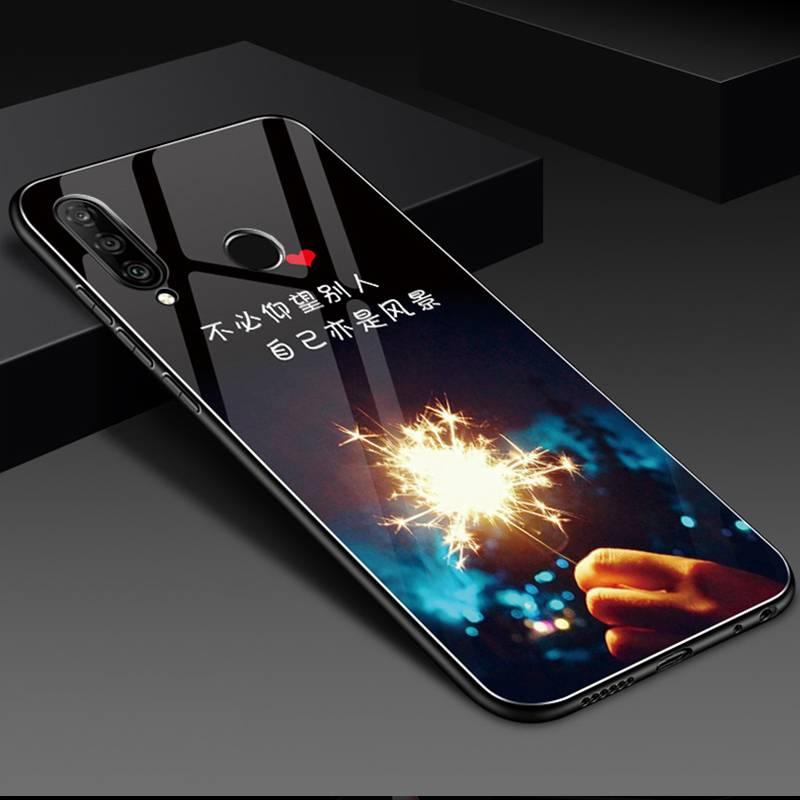 华为nova4e手机壳MAR-AL00硅胶防摔nova4e玻璃套Huawei个性潮男女