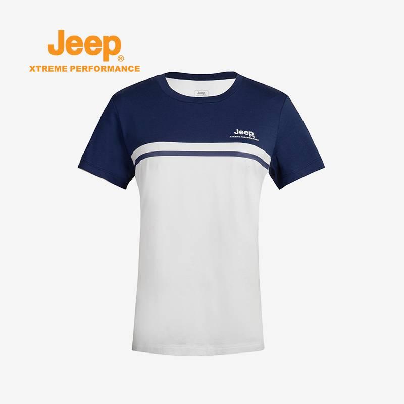 Jeep/吉普 户外春夏女舒适透气短袖T恤