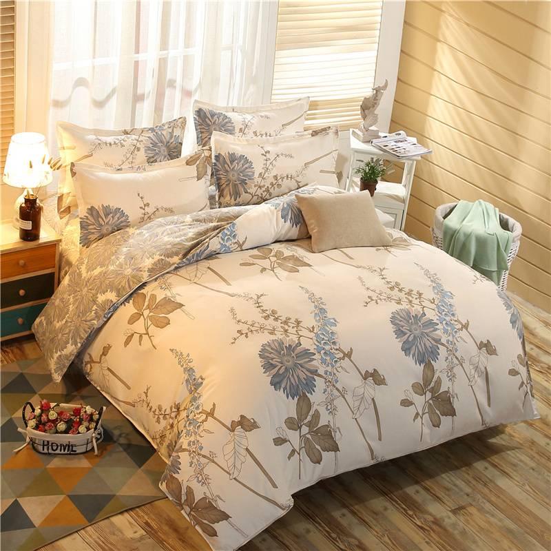 网红款ins风四件套全棉纯棉学生宿舍被套床单1.82.0床上用品4件套