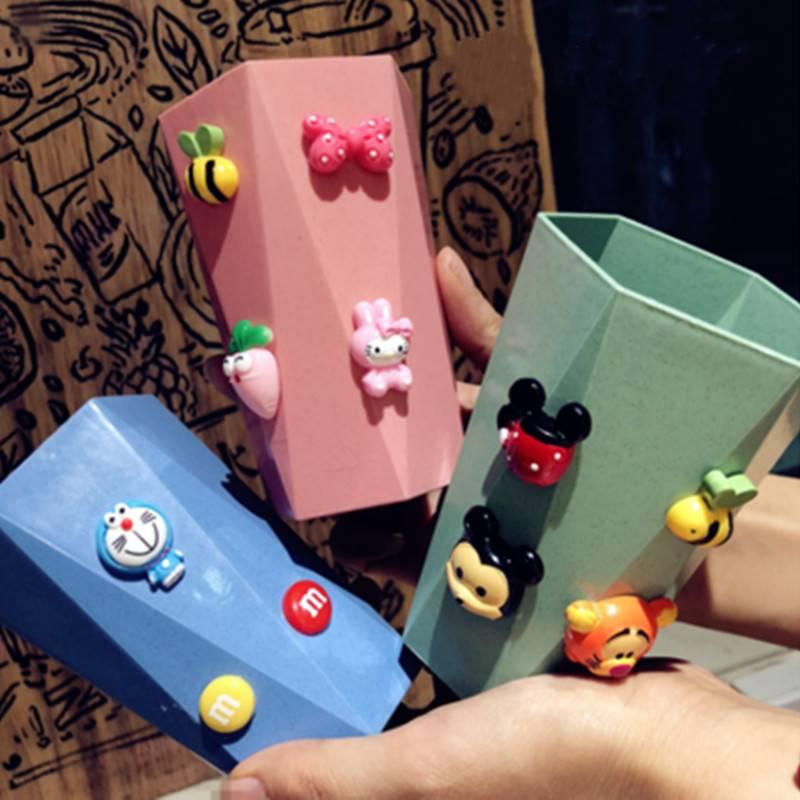 卡通米奇洗漱杯可爱刷牙缸小麦秸秆牙刷杯儿童水杯创意情侣漱口杯